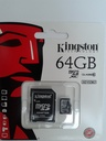 microSDXC 64Gb Kingston Class 10 (адаптер SD)