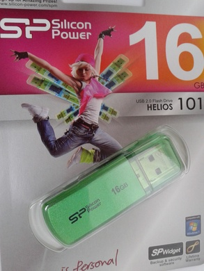 USB 2.0 SiliconPower Helios 101 16Gb Green