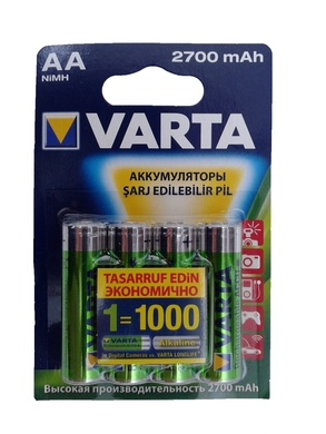 Акумулятори VARTA Rechargeable accus 5706 (4) 2700 мА