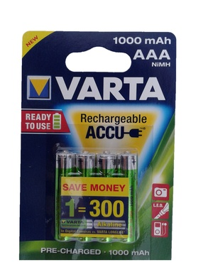 Акумулятори VARTA Rechargeable accus 5703 (4) 1000 мА