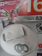 USB 2.0 SiliconPower Touch 830 16Gb Silver